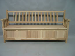 6020 72 modified size hickory deep storage bench unfinished down