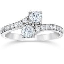 10k wedding ring 1 carat forever us two engagement ring 10k white gold