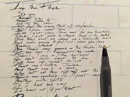 Lyrics For Comfortably Numb In The Flesh Lyrics The Wall Lyrics Pink Floyd Lyrics