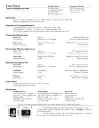 theatre resume template technical theatre resume template resumes sle