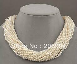 small pearl necklace images Wholesales designer jewelry 12 row white refinement freshwater jpg