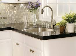 Black Granite Countertops With Tile Backsplash Home Design Ideas - Backsplash for black granite