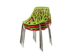 Birch Dining Chairs Baxton Studio Birch Sapling Red Plastic Modern Dining Chair Set Of 2