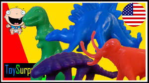 dinosaurs for children learn the colors in english numbers and