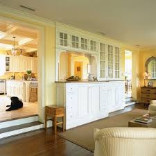 Kitchen Yellow Walls - cool pass through and wall cabinets ideas u0026 photos houzz
