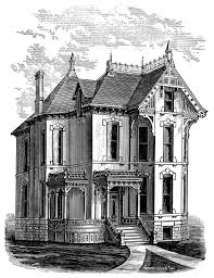 mansion clipart victorian house pencil and in color mansion