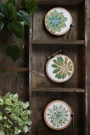 succulent embroidery art wide leaf embroidery stitch and