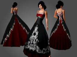 Red And Black Wedding Red And Black Gothic Wedding Dresses Wedding Decorations