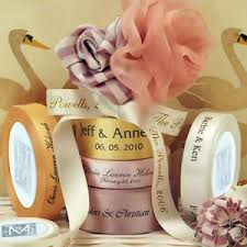 personalized ribbon for wedding favors 7 8 100 yard roll personalized ribbon custom logo wedding favors ebay