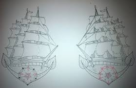 ship tattoo design old by booders9 on deviantart