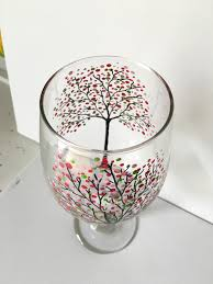 wine glass painting blossoming tree wine glass painting party the progressive palette