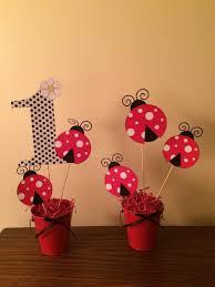 lady bug centerpieces by www bestpartyever biz best party ever