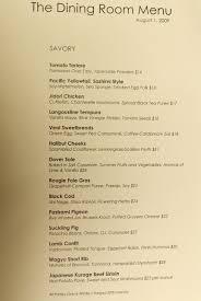 room dining menu images
