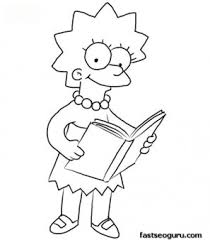 print out lisa simpson coloring page printable coloring pages