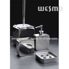 china square shape stainless steel bathroom accessories set