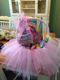 Easter Baskets Decorated With Tulle by Beautiful Tulle Tutu Decorative Basket Easter Basket Baby
