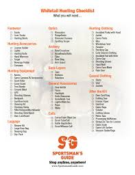 whitetail hunting checklist deer hunting tips from guide outdoors