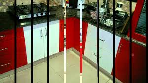 high gloss red and white kitchen at 8 streaks interiors youtube