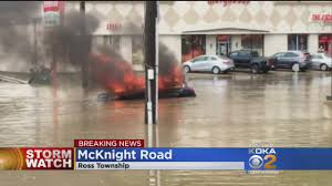 best deals on black friday 2017 kdka crews sent out for rescues car fire in severe flooding cbs