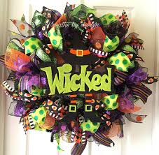 Fall Halloween Wreaths by Wreath Witch Wreath Halloween Wreath Fall Wreath Wicked