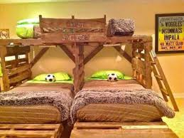 Fascinating Pallet Bunk Beds 17 Pallet Loft Beds How To Build by Pallet Bunk Beds Youtube