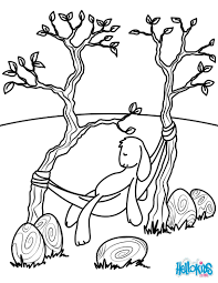 easter bunny resting coloring pages hellokids com