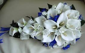 wedding flowers royal blue 17 real touch royal blue white calla wedding bouquet