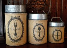 rustic kitchen canister set modern astonishing home interior