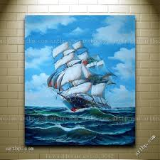 racing home big sailing ship oil painting classic boat ship abstract techniques large acrylic paintings free