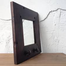 Home Goods Bathroom Mirrors by Reclaimed Wood Mirror With Antique Ceramic Hardware Jewelry