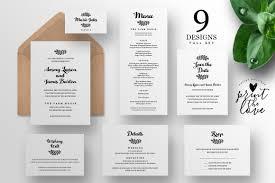wedding invitation suites wedding invitation suite fiora invitation templates creative