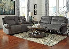 austere power reclining sofa austere gray 2 seat reclining power sofa loveseat signature design