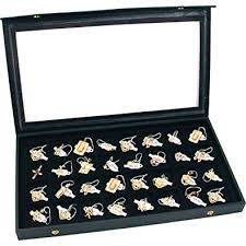 top earing 32 earring jewelry display clear top black new