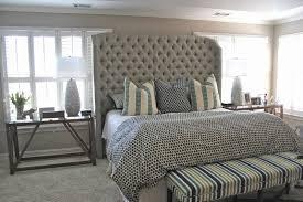 bed u0026 bath king upholstered headboard with wingback headboard and