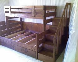 plans for bunk bed with stairs woodworking design furniture