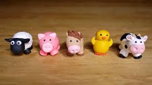 farm cake toppers farm animals set 8 edible cake topper fondant fondant figurines