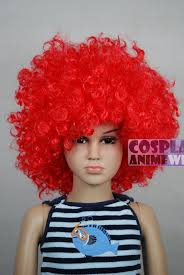 toddler halloween wigs mcdonald red afro kids children halloween wigs fits from baby to