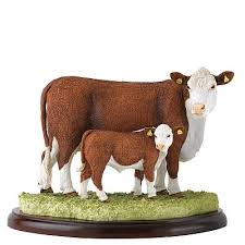 hereford cow figurine cow ornament hereford cow figurines