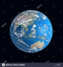 World Map China by High Detailed Earth Map China Japan Indonesia Malaysia Stock