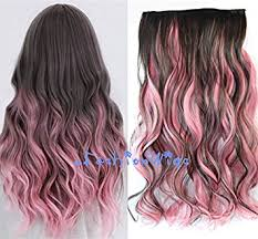 pink hair extensions brown mixed pink two colors ombre hair
