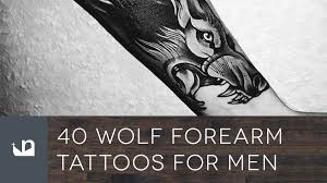 tattoos for guys forearms 40 wolf forearm tattoos for men youtube