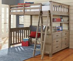 traditional full size loft bed with desk underneath great full