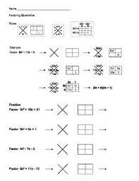 all worksheets factoring trinomials worksheets printable