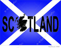 Scotland Flags Illustration Of Scotland Text With Map