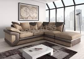 Corner Sofa Design Photos Brand New Dino Corner Sofa In Two Tone Black Grey Or Brown Beige