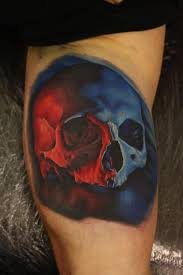 amazing color cross tattoos skulls nemesis