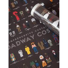 curtain call costumes size chart a comprehensive curtain call of broadway costumes poster pop chart