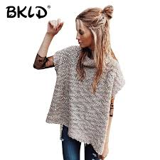 womens sweater vest bkld fall fashion 2017 turtleneck knitted sweaters pullovers