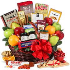 friut baskets bountiful harvest fruit gift basket by gourmetgiftbaskets