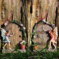 new garden accessories door tree house